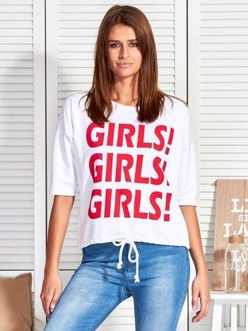 Biała bluzka GIRLS GIRLS GIRLS