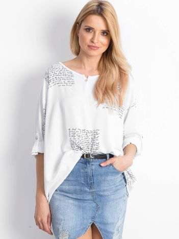 Biała bluzka Happines