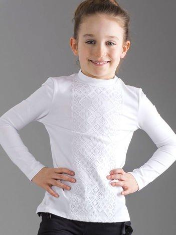 Biała bluzka dziewczęca z koronką