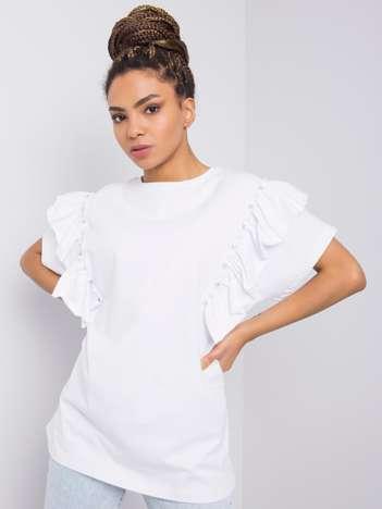Biała bluzka z aplikacją Miabella