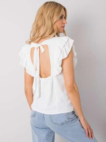 Biała bluzka z falbanami Macy OCH BELLA