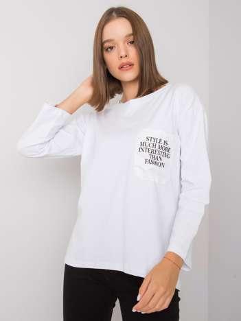 Biała bluzka z kieszonką Tianna