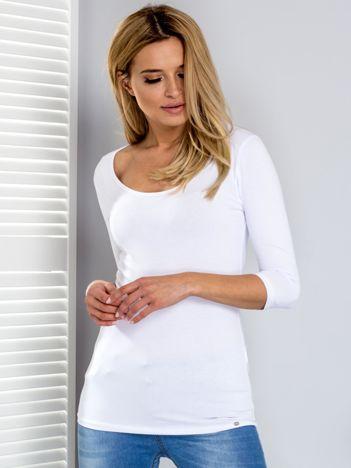 Biała bluzka z wycięciami na plecach