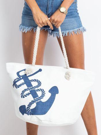 Biała damska torba z nadrukiem
