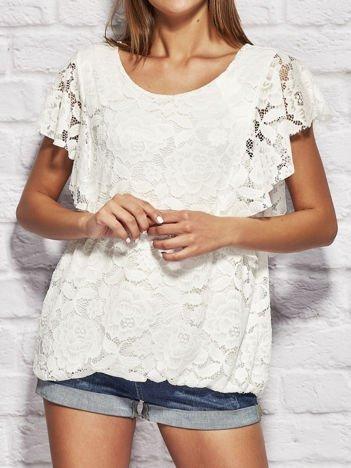 Biała koronkowa bluzka damska