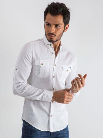 Biała koszula męska Smooth