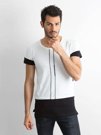 Biała koszulka męska z bawełny