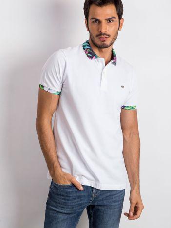 Biała męska koszulka polo Sour