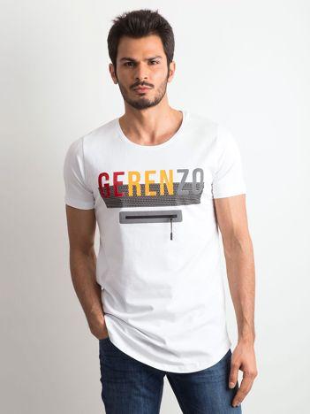Biała męska koszulka z napisem