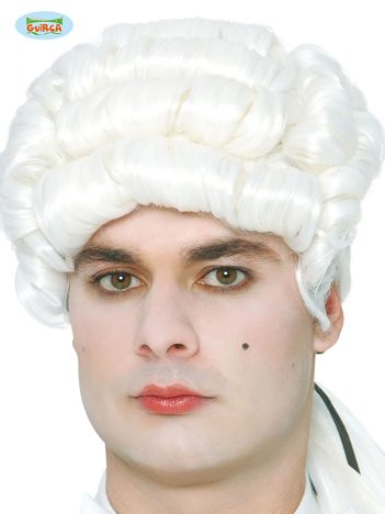 Biała peruka Markiz