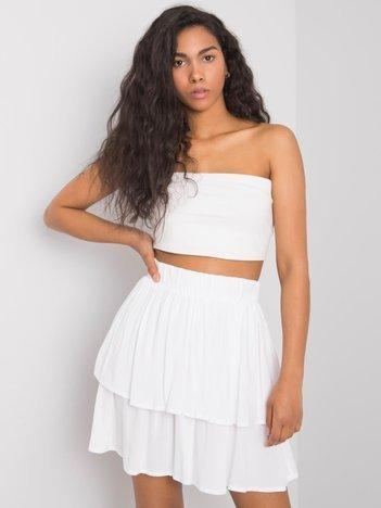 Biała spódnica z falbaną Eden SUBLEVEL