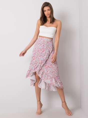 Biała spódnica z falbaną Kensington