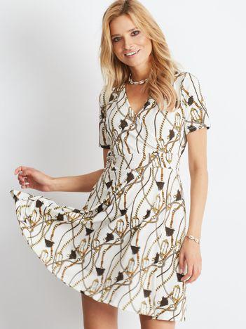 Biała sukienka Distinctly