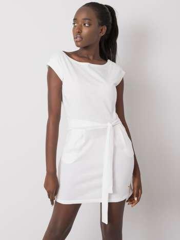 Biała sukienka Letitia NIE ZNASZ MNIE