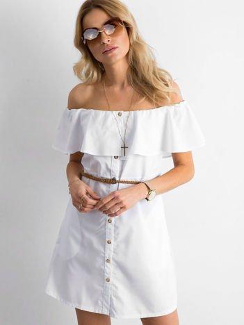 Biała sukienka hiszpanka