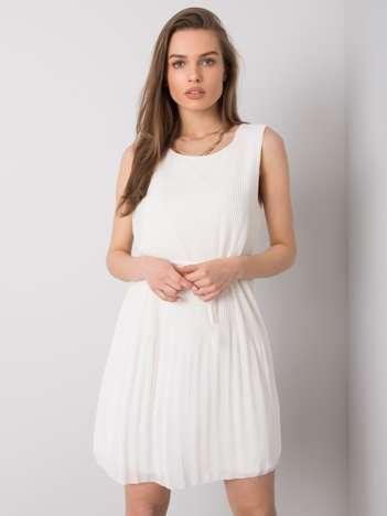 Biała sukienka plisowana Monza SUBLEVEL