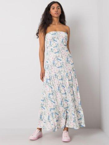 Biała sukienka we wzory Lakin FRESH MADE