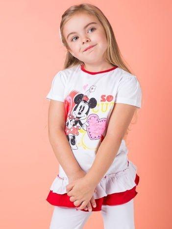 Biała tunika dla dziewczynki z motywem MINNIE MOUSE