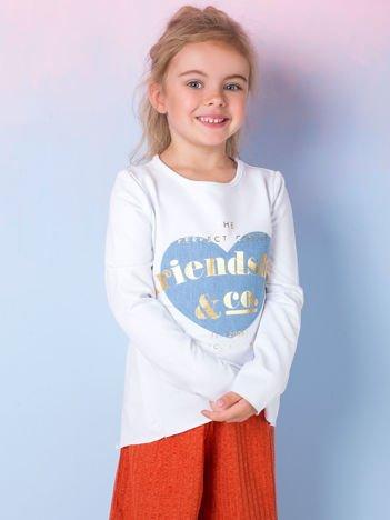 Biała tunika dla dziewczynki z naszywką