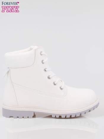 Białe buty trekkingowe damskie traperki Habbie