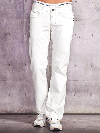 Białe denimowe spodnie męskie Funk n Soul