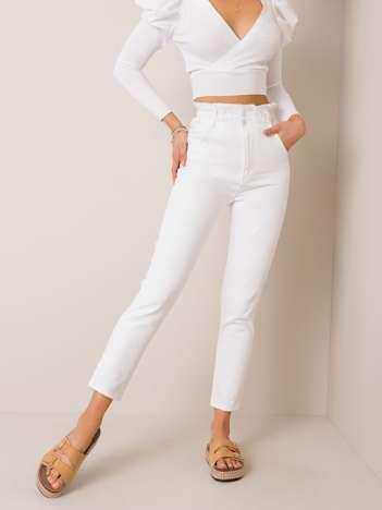 Białe jeansy Reina RUE PARIS