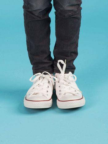Białe trampki dziecięce Converse