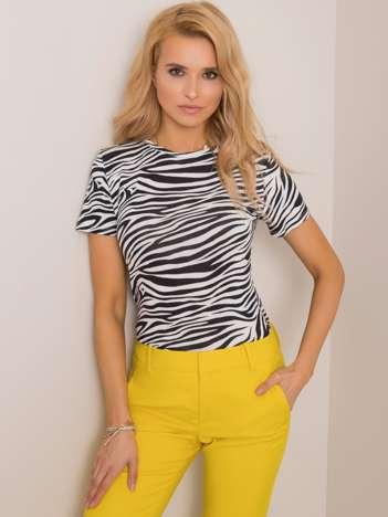 Biało-czarna bluzka Zebra RUE PARIS