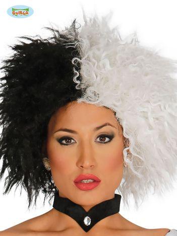 Biało-czarna peruka
