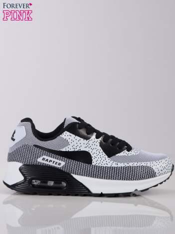 Biało-czarne buty sportowe na poduszce powietrznej