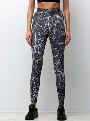 Biało-czarne legginsy Abstraction