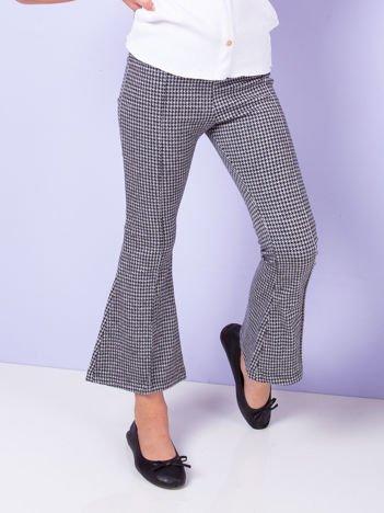 Biało-czarne spodnie dla dziewczynki