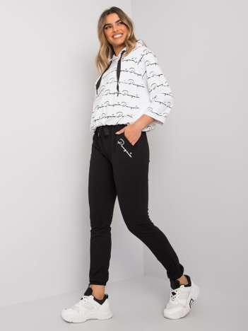 Biało-czarny komplet dresowy Amilia