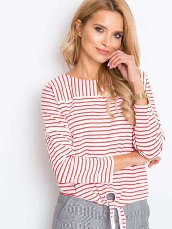 Biało-czerwona bluzka Life