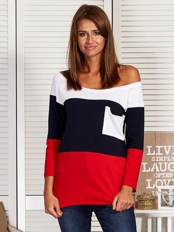 Biało-czerwona bluzka tricolor