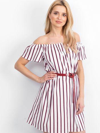 Biało-czerwona sukienka Passion