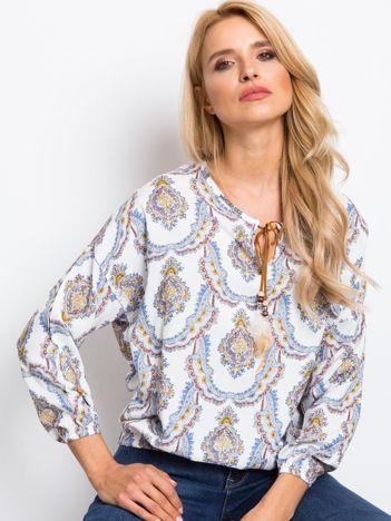 Biało-niebieska bluzka Give