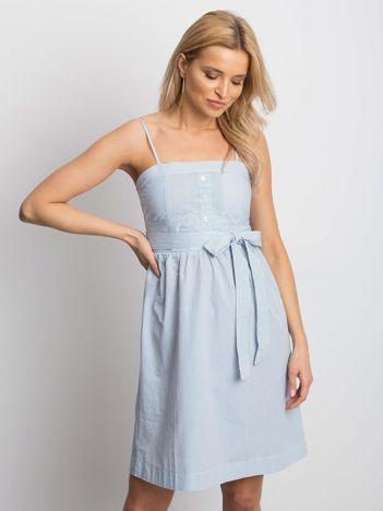 d1a7d052b3 Biało-niebieska sukienka Stately