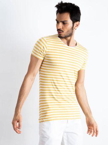 Biało-oliwkowa męska koszulka Jupiter