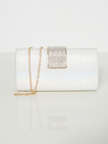 Biało-perłowa kopertówka