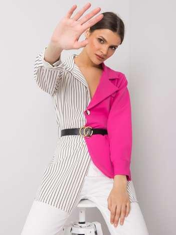 Biało-różowa koszula Hana