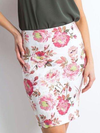 Biało-różowa spódnica Essential