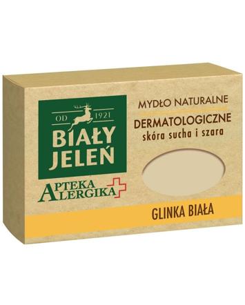 Biały Jeleń Apteka Alergika Mydło naturalne Glinka Biała - skóra sucha i szara 125g