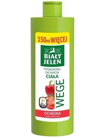 Biały Jeleń Wege Fitokoktajl do mycia ciała ochronny Pomidor i Papryka  400 ml