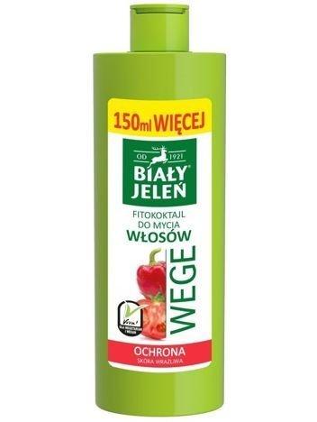 Biały Jeleń Wege Fitokoktajl do mycia włosów ochronny Pomidor i Papryka  400 ml