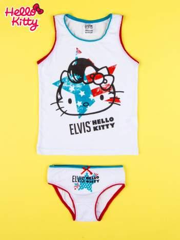Biały komplet do spania dla dziewczynki z nadrukiem ELVIS HELLO KITTY