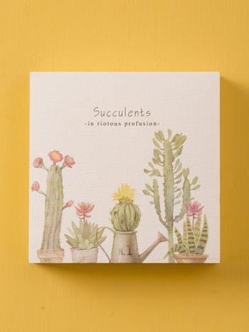 Biały notes w kaktusy