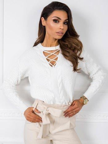 Biały sweter Marina