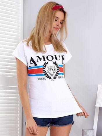 Biały t-shirt Amour