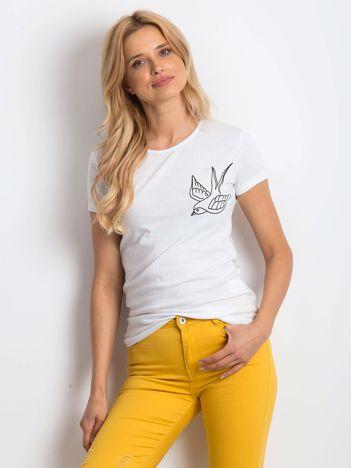 Biały t-shirt Birdy